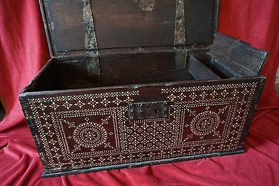Indian Dowry Chest, Inlaid with Mother of Pearl.