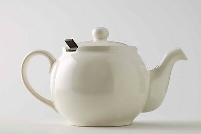 CHATSFORD Teapot 19x11cm 2cup Cream Stoneware with Brown Filter