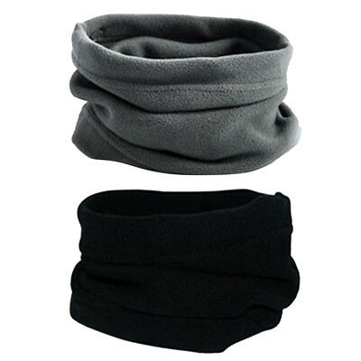 2 Piece Trendy Polar Fleece Neck Warmer Comfy Snood Scarf Ski Motorbike Mask