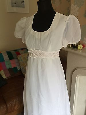 Vintage 1970s Wedding Dress-White-Boho/Festival/Beach-10
