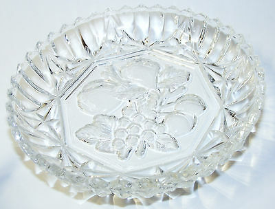 """6 - 5 3/8"""" FEDERAL Pioneer Nappy INTAGLIO FRUIT saw-tooth edge"""
