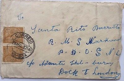 Portuguese India / Goa 1937 Cover With 20 Stamps To R. M. S. Narkunda London