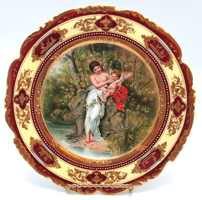 Beehive Royal Vienna Cabinet Plate Cupid & Bare Breasted Girl