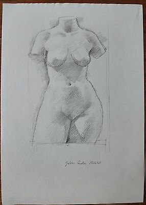 Julian Gordon Mitchell - Contemporary Graphite Drawing, femail Torso