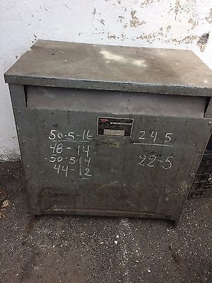 Dry transformer 75 Kva 200 Amp 240 volt to 208 208 amp transformer