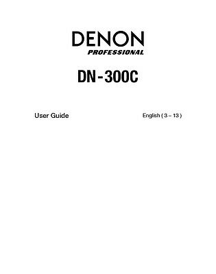 Denon dn-d6000 cd player owners instruction manual $18. 99 | picclick.