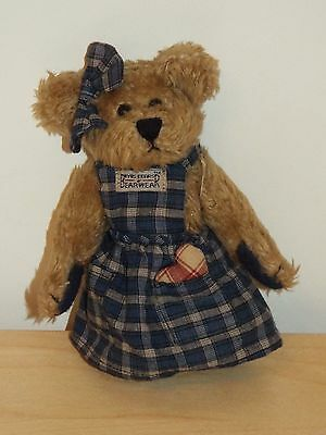 "7"" Tall 4 Jointed Boyds Bean Bear CLEMENTINE, with Tags,"