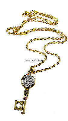 Catholic Exorcism Medal Cross Saint Benedict Protection Medal Stainless Necklace
