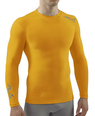 Sub Sports Cold Thermal Compression Baselayer Mens Top - Yellow
