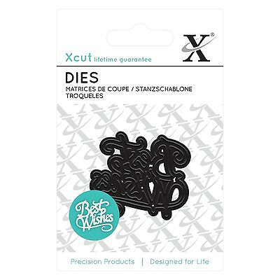 BEST WISHES - Xcut Mini Die - free UK p&p on any additional dies