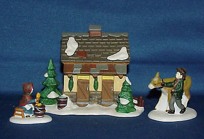 Dept 56 Heritage Village Tending The New Calves Cow Stall Barn NEW 58395