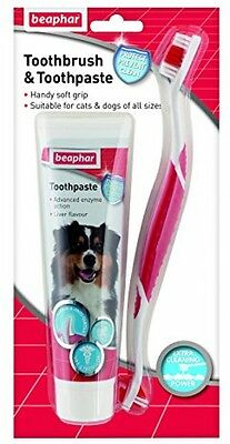 Beaphar Toothbrush and Toothpaste Kit Fresh Breath For Dogs 100G *** FREE P P