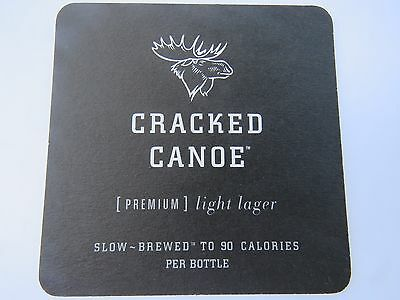 Beer Bar Coaster ~*~ Moosehead Brewery Cracked Canoe Lager >< Saint John, CANADA