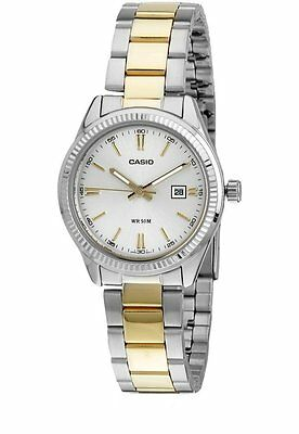 Casio LTP1302SG-7A Silver Two-Tone-Stainless-Steel Bracelet Ladies Watch