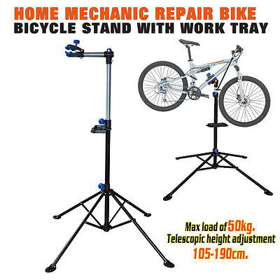 1.9M Folding Bicycle Maintenance Repair Stand Rack Pedal Bike Cycle Workstands