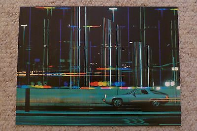 1978 Porsche 928 Coupe Showroom Advertising Sales Poster RARE!! Awesome L@@K