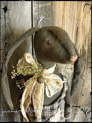 Primitive~Folk~Art~Raggedy~Ann~Bunny~Rabbit~Deuce