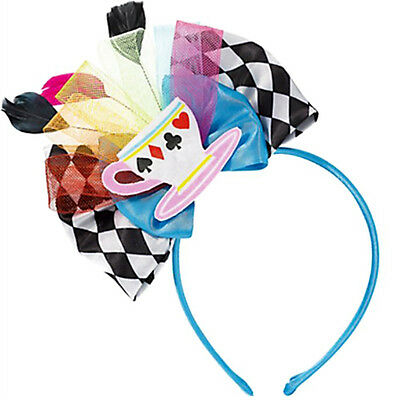 MAD TEA PARTY DELUXE HEADBAND ~ Birthday Party Supplies Alice in Wonderland Pink
