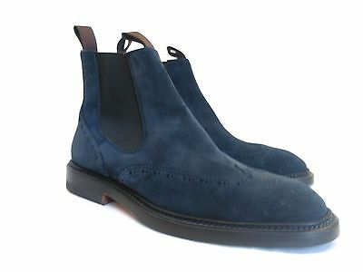 Santoni Mens SuedeLoafer ITALIAN MADE Leather100/%Authentic New In Box USA Seller