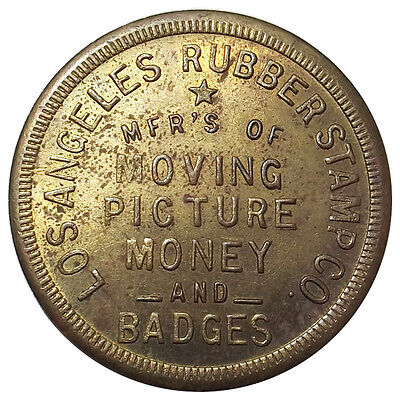 """Movie Money"" - Los Angeles Rubber Stamp Co $20 Token - Prop Coin, California"
