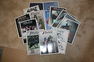 Lot of 14 Voice of the Tennessee Walking Horse magazine 2000-2002