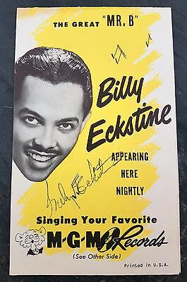 1940's Billy Eckstine Original Autographed MGM Records Table/Lobby Card Poster