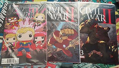 Marvel Complete Set of 8 Civil War II Comics First Print Brand New! Mint!