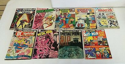 Lot of 9 Low Grade Silver Age DC Comics - Teen Titans 22, Action 375, + More