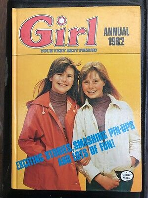 Girl annual 1982 Hardcover Rare vintage girl's annual Jinty June Debbie