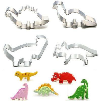 Stainless Steel Dinosaur Animals Cake Baking Mold Fondant Biscuit Cook Cutter CN