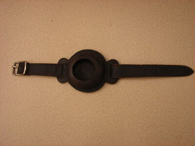 Original WW1 US Trench Watch Black Leather Enclosed Wrist Strap