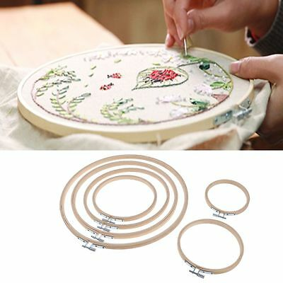 Bamboo Embroidery Cross-Stitch Ring Hoop 4'' to 12'' Embroidering Tools
