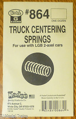 Kadee #864 (G Scale)Truck Centering Springs -- For LGB 2-Axle Cars