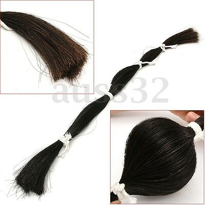 Natural Black Horse Show Tail Hair Extension 80-85cm/31-33'' 180g for Violin