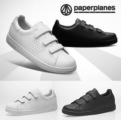 PaperPlanes Mens Belted Shoes Leather Triple Grip Strap Casual Sneakers 1399