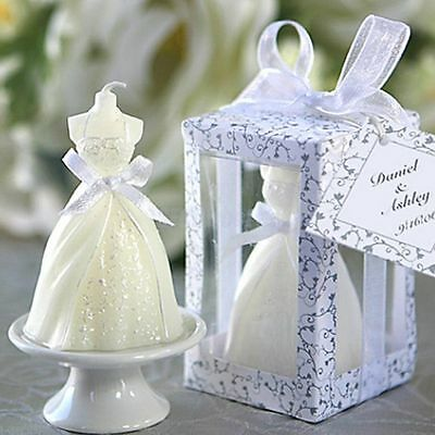Bridal Bride Shape Candle Wedding Party Favor Bridal Shower Boxed Gift Decor New