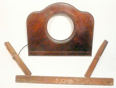 vintage* ATWATER-KENT 509 TUNE-O-MATIC RADIIO PART:  CLOCK UNIT FRONT WOOD DOOR