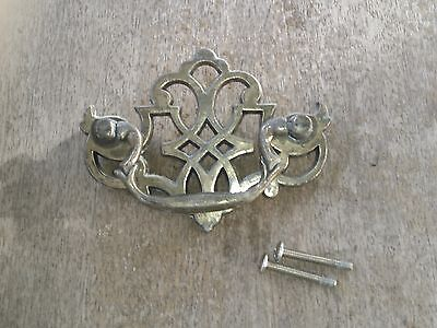 Vintage Chippendale Colonial Style Swan Bail Drop Open Face Drawer Pull
