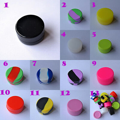 7ml Silicone Jar Nonstick Container food grade wax jars dab wholesale lot