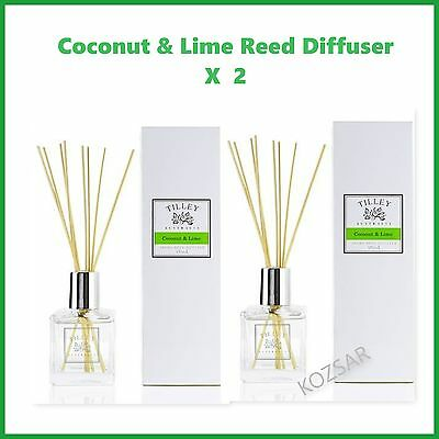 TILLEY Reed Diffuser COCONUT & LIME X 2  -  AUSTRALIAN MADE