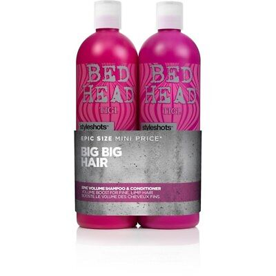 TIGI Bed Head Epic Volume 750mL Duo Pack Shampoo & Conditioner Hair Haircare