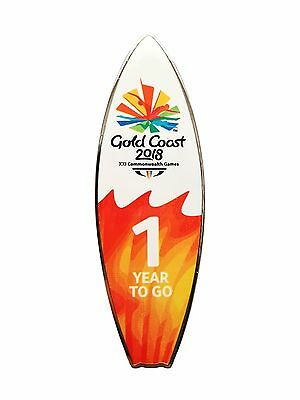 333198 2018 Gold Coast Commonwealth Games 1 Year To Go Surfboard Metal Tie Pin