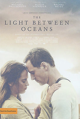 Promotional Movie Flyer - THE LIGHT BETWEEN THE OCEANS (2016) *Alicia Vikander*