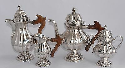 1,492g : Superb Antique 4 Piece 800 Sterling Silver Tea and Coffee Service