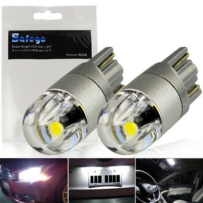 Safego 2x 360° T10 W5W Led White 2825 3030 SMD LED Bulbs Car Dome Map Lights