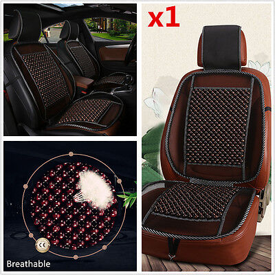 Natural Wooden Beads Car Seat Cushion Mesh Mat Car Home Chair Seat Cooling Cover