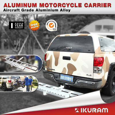 Motorcycle Aluminum Carrier Rack and Ramp Motorbike Dirt Bike Tow bar  Freight