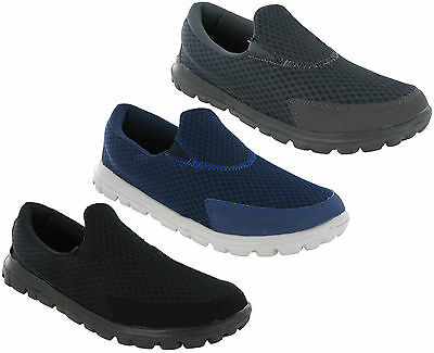 Ascot Super Lightweight Mens Casual Soft Cushioned Go Walking Mesh Leisure Shoes