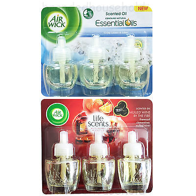 6 Air Wick Airwick Electrical Plug In Refill Air Freshener Oil Mulled Wine Linen