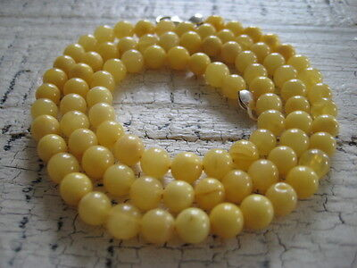 Bernsteinkette Baltic Amber Necklace Yellow Beads Balls Rosary